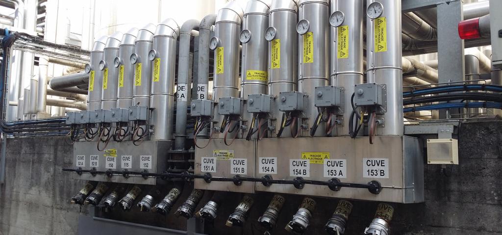 Cuves de stockage avec traçage électrique anti-déflagrant - Harnes